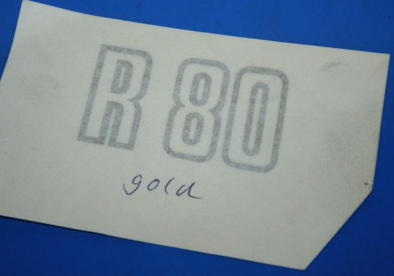 Aufkleber R80 Gold f.Batterieabdeckung 81-84