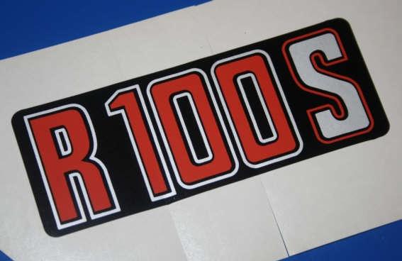 Aufkleber R100S silber/rot -9/80 f.Batterieabdeckung