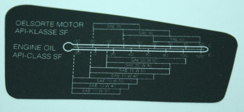 Aufkleber R-RT re. Motoröl 1985-