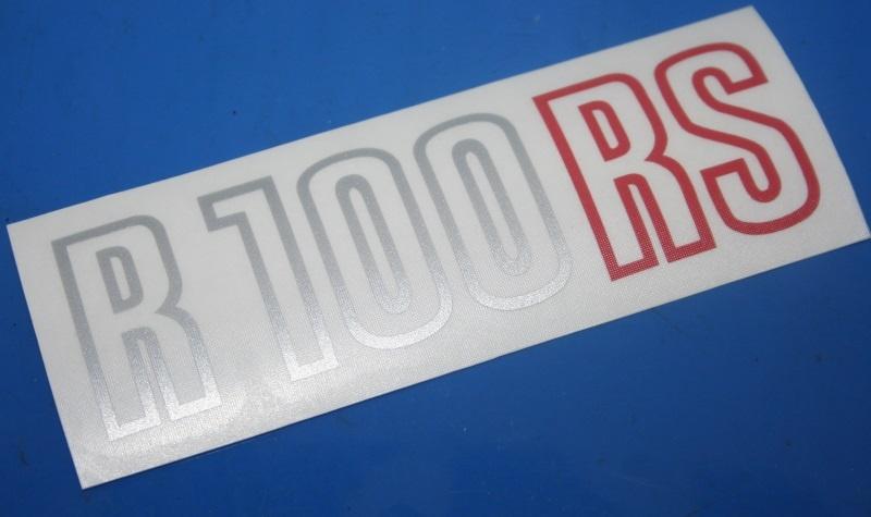 Aufkleber R100RS silber/rot 81-84 Batterieabdeckung