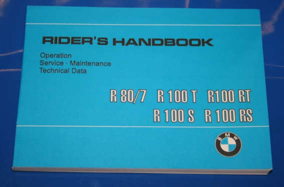Betriebsanleitung R60/7 R80/7 R100 english owners manual