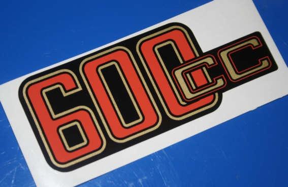 Aufkleber 600cc 60/6/7 Batterieabdeckung gold