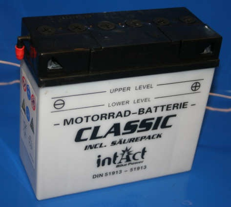 Batterie 12V 19AH 12C19a-3B mit Säure