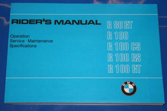 Betriebsanleitung R80/100 81-84 english owners manual