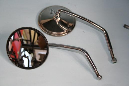 Spiegel links kurz chrom