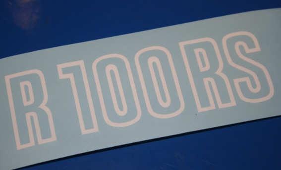 Aufkleber R100RS weiß 81-84 Batterieabdeckung