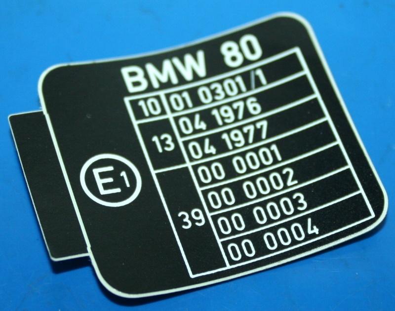 Aufkleber ECE Prüfzeichen R80 R100RT
