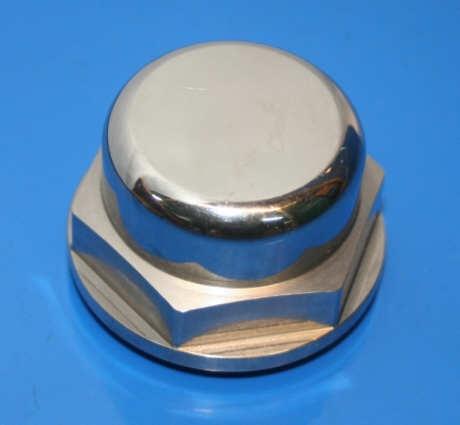 Hutmutter /6- SW 36 Lenkrohr ohne Loch VA poliert