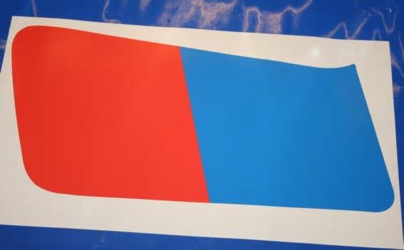 Aufkleber R80G/S Blau/rot li. Tank 18l
