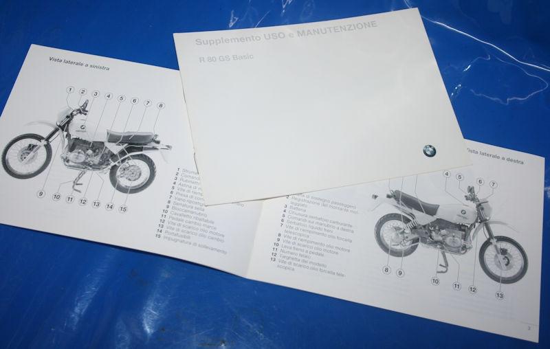 Betriebsanleitung R80GS Basic Zusatz 91- italiano