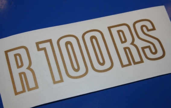 Aufkleber R100RS gold 81-84 Batterieabdeckung