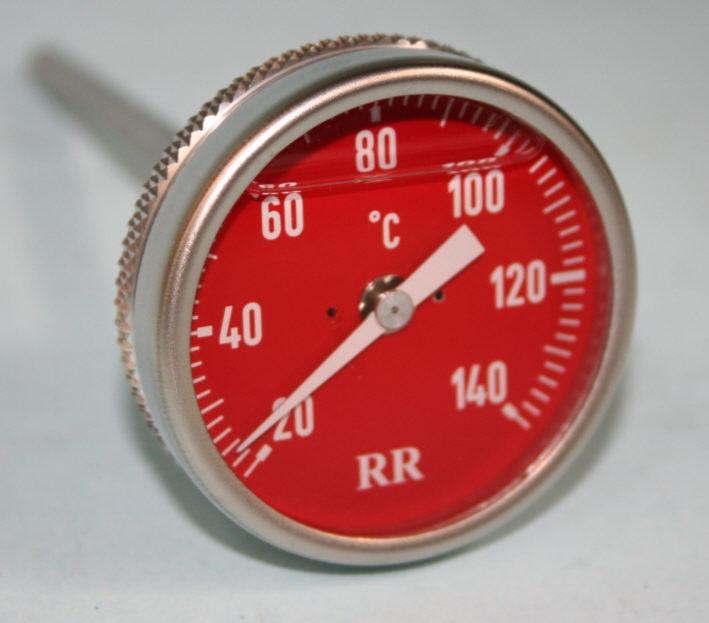 Öltemperaturanzeiger F650GS 50mm Ziffernblatt rot 88,5 mm