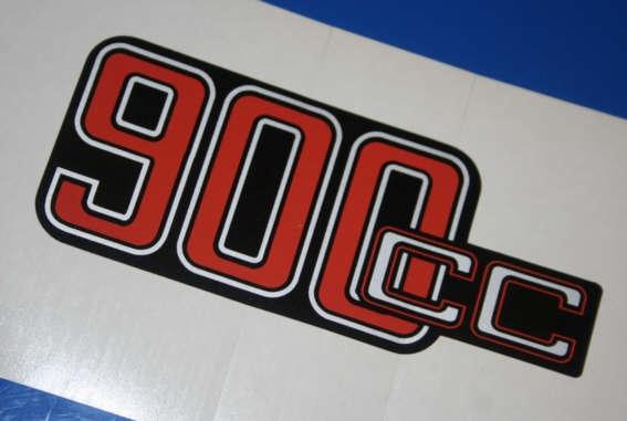 Aufkleber 900cc 90/6 +90/S f.Batterieabdeckung