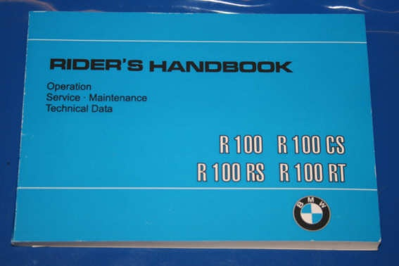 Betriebsanleitung R100 81-84 english owners manual