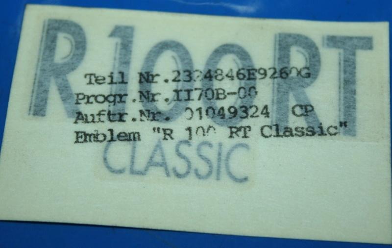 Aufkleber R100RT Classic an der Verkleidung