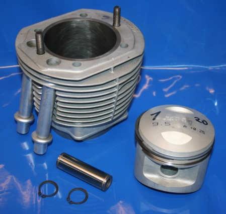 Zylinder u.Kolben R100 +0.25 9.5:1 überarbeitet im Tausch