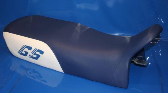 Sitzbank R80/100GS/R blau/weiss normal Nachfertigung