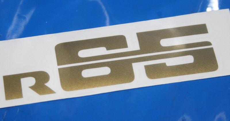 Aufkleber R65 gold Batterieabdeckung 78-84
