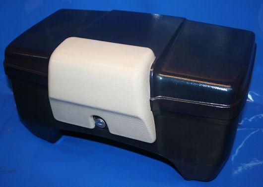 Topcase 22 Liter K+R80 85- m.Schließzylinder Deckel schwarz