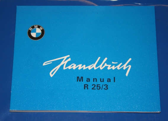 Betriebsanleitung R25/3 english owners manual