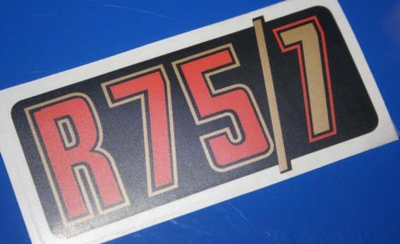 Aufkleber R75/7 gold f.Batterieabdeckung