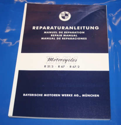 Werkstatthandbuch R51/3 R67,67/2 english repair manual
