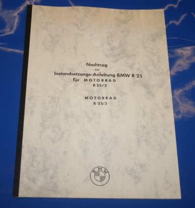 Nachtrag zum Werkstatthandbuch R25 (25/2/3) deutsch