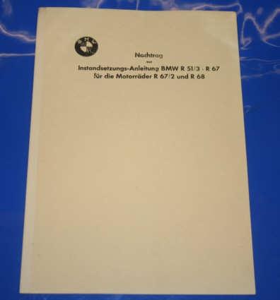 Nachtrag z.Werkst.handb.R51/3 R67,67/2,68 deutsch