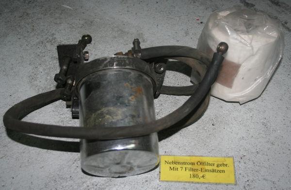Nebenstrom-Ölfilter /7-1995 GEBRAUCHT mit 7 Filtereinsätzen