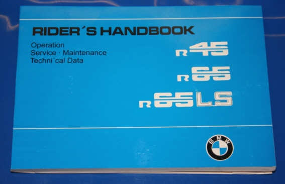 Betriebsanleitung R45/65/65LS english owners manual