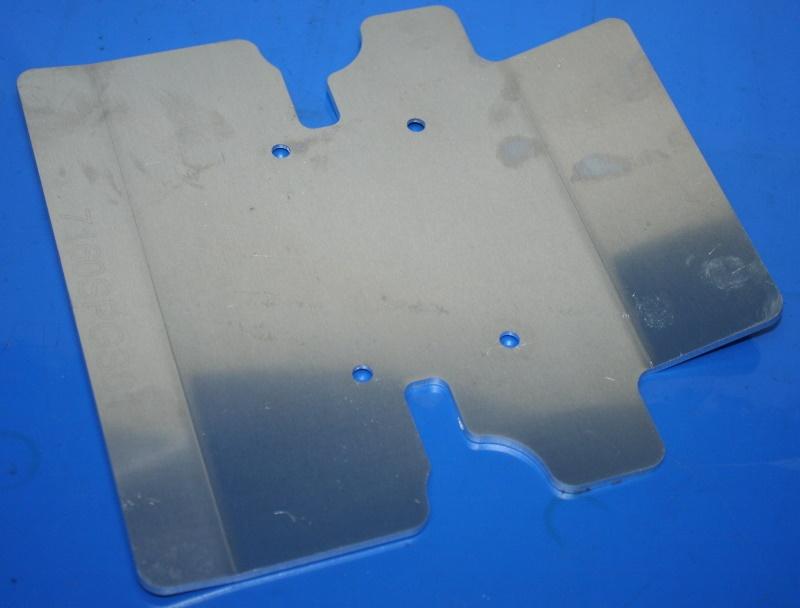 Schutzplatte G/S am Ständer ohne Anbauteile
