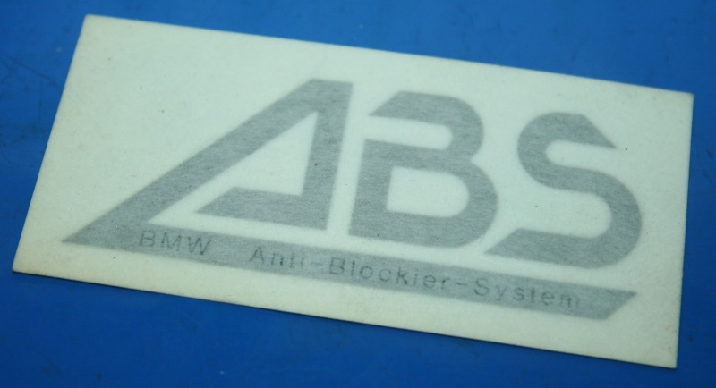 Aufkleber ABS silber K100RS K1100RS K1100LT
