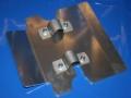 Schutzplatte G/S+R65GS am Ständer mit Anbauteilen