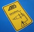 Aufkleber ABS R1100 Sensor vorne + hinten