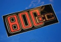 Aufkleber 800cc 80/7 Batterieabdeckung gold/rot