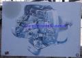 Poster Boxer 1983 auf Sperrholz ca. 840x580mm GEBRAUCHT !