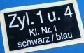 Aufkleber Zündspule K100 1+4 groß ca.22x36mm